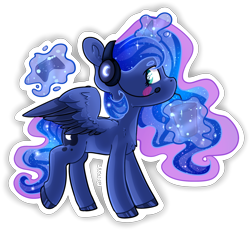 Size: 1280x1182   Tagged: safe, artist:baldmoose, princess luna, alicorn, pony, gamer luna, blushing, chest fluff, colored hooves, controller, cute, drink, drinking, ear fluff, female, filly, headset, lunabetes, magic, mare, profile, simple background, solo, straw, telekinesis, transparent background, two toned wings, wings, woona, younger