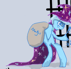 Size: 376x364 | Tagged: safe, artist:ponyhell, trixie, cropped