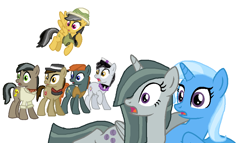 Size: 976x560 | Tagged: safe, artist:diana173076, daring do, doctor caballeron, marble pie, trixie