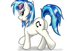 Size: 877x620 | Tagged: safe, artist:eel's stuff, dj pon-3, vinyl scratch, pony, butt, dock, female, mare, solo, vinyl ass
