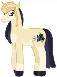 Size: 1064x1443 | Tagged: safe, artist:kindheart525, oc, oc only, oc:veuve en deuil, pony, unicorn, auraverse, magical lesbian spawn, offspring, parent:fleur-de-lis, parent:princess cadance, parents:fleurdance