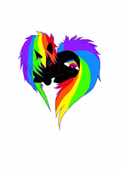 Size: 1599x2300 | Tagged: safe, artist:rikastormfeldthefox, oc, oc only, oc:rainbow crack, pony, unicorn, heart pony, horn, multicolored hair, prone, rainbow hair, simple background, solo, unicorn oc, white background