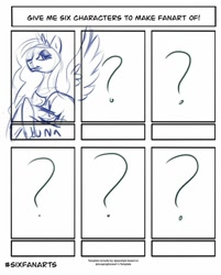 Size: 824x1024 | Tagged: safe, artist:danigrilloart, princess luna, alicorn, pony, six fanarts, bust, crossover, female, lineart, mare, peytral, solo, wip