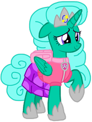 Size: 816x1080 | Tagged: safe, artist:徐詩珮, glitter drops, alicorn, pony, series:sprglitemplight diary, series:sprglitemplight life jacket days, series:springshadowdrops diary, series:springshadowdrops life jacket days, alicornified, alternate universe, base used, clothes, cute, glittercorn, paw patrol, race swap, simple background, skye (paw patrol), transparent background