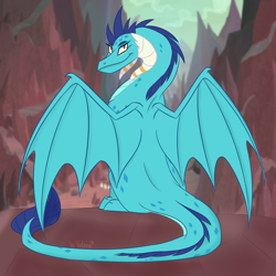 Size: 2048x2048 | Tagged: safe, artist:lunathemoongod, princess ember, dragon, dragonlord, older ember, solo
