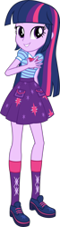 Size: 2777x10303 | Tagged: safe, artist:firesidearmy46231, edit, vector edit, twilight sparkle, equestria girls, clothes swap, female, looking at you, simple background, solo, transparent background, twilight sparkle (alicorn), vector