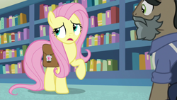 Size: 1920x1080 | Tagged: safe, screencap, doctor caballeron, fluttershy, daring doubt, groom q.q. martingale