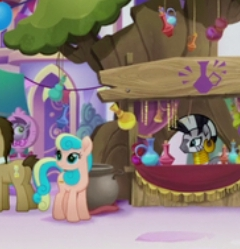 Size: 240x249 | Tagged: safe, screencap, doctor whooves, time turner, zecora, earth pony, pony, my little pony: the movie, background pony, cropped, female, mare, unnamed character, unnamed pony, we got this together