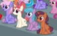 Size: 115x73 | Tagged: safe, screencap, cocoa caliente, moondancer's sister, morning roast, rainbowshine, pegasus, pony, unicorn, the washouts (episode), background pony, cropped, picture for breezies, unnamed character, unnamed pony