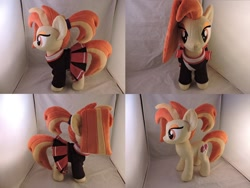 Size: 1280x962 | Tagged: safe, artist:little-broy-peep, shimmy shake, pony, 2 4 6 greaaat, cheerleader outfit, clothes, cute, irl, photo, plushie, shakeabetes, solo