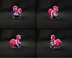 Size: 4799x3865 | Tagged: safe, artist:bomzzzik, pinkie pie, earth pony, pony, absurd resolution, craft, female, figure, figurine, handmade, mare, party cannon, solo