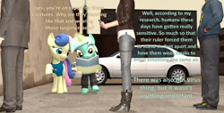 Size: 1920x978 | Tagged: safe, artist:red4567, bon bon, lyra heartstrings, sweetie drops, human, 3d, atg 2020, book, car, clothes, coronavirus, covid-19, newbie artist training grounds, phone, pony on earth, social distancing, source filmmaker