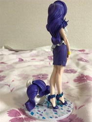 Size: 3024x4032 | Tagged: safe, kotobukiya, rarity, human, pony, unicorn, equestria girls, backless, bare shoulders, beautiful, clothes, figure, high heels, human ponidox, humanized, jewelry, kotobukiya rarity, legs, miniskirt, moe, self ponidox, shoes, side slit, skirt, sleeveless, standing, stiletto heels, strapless