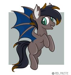 Size: 372x396 | Tagged: safe, artist:redpalette, oc, oc only, oc:black night, bat pony