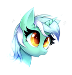 Size: 979x1025 | Tagged: safe, artist:ravensunart, lyra heartstrings, pony, unicorn, bust, cute, female, mare, portrait, simple background, solo, white background