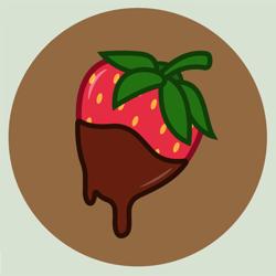 Size: 554x554 | Tagged: safe, artist:happydays64, oc, oc:strawberry cocoa, commission, commissioner:rautamiekka, cutie mark, cutie mark only, no pony