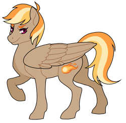 Size: 773x759 | Tagged: safe, artist:trippinmars, oc, oc:sunny blaze, pegasus, pony, female, mare, offspring, parent:dumbbell, parent:rainbow dash, parents:dumbdash, simple background, solo, transparent background