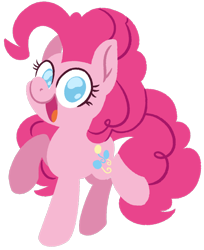 Size: 1024x1253   Tagged: safe, artist:mistysparkles, pinkie pie, earth pony, pony, cute, diapinkes, lineless, looking at you, no pupils, simple background, solo, transparent background