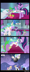 Size: 1288x3000   Tagged: safe, edit, edited screencap, editor:teren rogriss, screencap, fluttershy, princess celestia, trixie, twilight sparkle, alicorn, dragon, earth pony, pegasus, pony, unicorn, horse play, canterlot castle, clothes, death star, military uniform, orson krennic, ponified, stage, star wars, stormtrooper, stormtrooper armor, throne room, tie fighter pilot, twilight sparkle (alicorn), uniform
