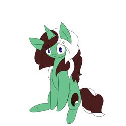 Size: 1000x1000   Tagged: safe, artist:kaggy009, oc, oc:peppermint pattie (unicorn), pony, unicorn, ask peppermint pattie, female, mare, solo