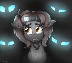 Size: 2794x2443 | Tagged: safe, artist:darklight1315, oc, earth pony, pony, changeling eyes, commission, dark, eyes in the dark, flashlight (object), male