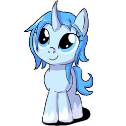 Size: 400x400 | Tagged: safe, artist:ask-pony-gerita, pony, unicorn, antarctica, curved horn, eyelashes, female, filly, hetalia, horn, ponified, simple background, smiling, socks (coat marking), solo, transparent background
