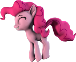 Size: 1280x1045 | Tagged: safe, artist:melodiousmarci, pinkie pie, earth pony, pony, 3d, artist training grounds 2020, atg 2020, jumping, newbie artist training grounds, revamped ponies, sfm pony, simple background, solo, source filmmaker, transparent background