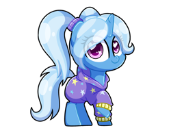 Size: 5120x4096 | Tagged: safe, artist:sugar morning, trixie, pony, unicorn, absurd resolution, alternate hairstyle, babysitter trixie, clothes, cute, diatrixes, female, hoodie, mare, simple background, solo, standing, transparent background