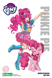 Size: 788x1182 | Tagged: safe, artist:shunya yamashita, edit, editor:michaelsety, kotobukiya, pinkie pie, earth pony, human, pony, anime, human coloration, human ponidox, humanized, kotobukiya pinkie pie, self ponidox