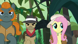 Size: 1920x1080 | Tagged: safe, screencap, biff, fluttershy, rogue (character), daring doubt, henchmen