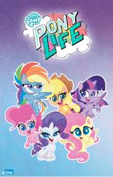 Size: 1260x1972 | Tagged: safe, applejack, fluttershy, pinkie pie, rainbow dash, rarity, twilight sparkle, alicorn, earth pony, pegasus, pony, unicorn, my little pony: pony life, entertainment one, fake(?), mane six, twilight sparkle (alicorn)