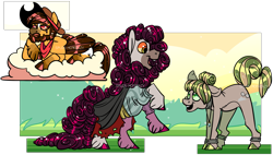Size: 2443x1392 | Tagged: safe, artist:spuds-mcfrenzy, oc, oc only, earth pony, pegasus, pony, clothes, cloud, male, stallion
