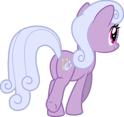 Size: 4251x4000 | Tagged: safe, alternate version, artist:melisareb, lilac links, earth pony, pony, honest apple, .svg available, absurd resolution, butt, cute, female, inkscape, lilac adoralinks, mare, plot, recolor, simple background, solo, transparent background, vector