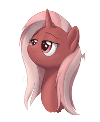 Size: 1250x1530 | Tagged: safe, artist:brisineo, oc, oc only, oc:cherry sundae, unicorn, fallout equestria, fallout equestria: broken bonds, bed hair, fanfic art, simple background, smiling, transparent background