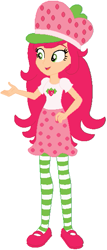 Size: 261x611 | Tagged: safe, artist:selenaede, artist:user15432, human, equestria girls, barely eqg related, base used, clothes, crossover, dress, equestria girls style, equestria girls-ified, hat, red shoes, shoes, socks, stockings, strawberry shortcake, strawberry shortcake (character), strawberry shortcake's berry bitty adventures, thigh highs