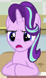 Size: 349x588 | Tagged: safe, screencap, starlight glimmer, unicorn, a horse shoe-in, cropped, solo