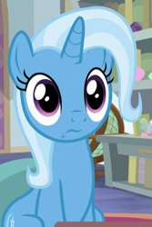 Size: 417x625 | Tagged: safe, screencap, trixie, unicorn, a horse shoe-in, cropped, solo