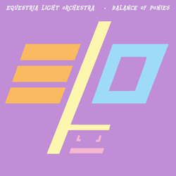 Size: 2000x2000 | Tagged: safe, artist:grapefruitface1, derpibooru exclusive, applejack, fluttershy, pinkie pie, rainbow dash, rarity, twilight sparkle, 80s, album cover, electric light orchestra, mane six, minimalist, modern art, ponified, ponified album cover