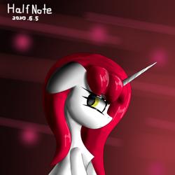 Size: 2480x2480 | Tagged: safe, oc, oc:half note, unicorn, female, horn, mare, unicorn oc