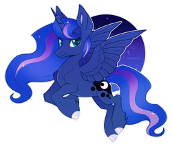 Size: 1024x873 | Tagged: safe, artist:sadelinav, princess luna, alicorn, pony, female, looking at you, mare, simple background, solo, transparent background, white outline