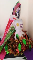 Size: 2240x4032 | Tagged: safe, photographer:horsesplease, gilda, griffon, flag, malaysia, photo, plushie, shrine, tinsel