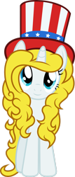 Size: 1602x3744 | Tagged: safe, artist:fuzzybrushy, oc, oc only, oc:auntie sammy, unicorn, hat, simple background, solo, transparent background