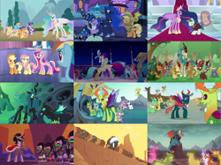 Size: 4321x3240 | Tagged: safe, edit, edited screencap, screencap, amarant, applejack, ballista, barry, billy (dragon), chief thunderhooves, cinder glow, clypeus, dragon lord torch, fern flare, fluttershy, forest fall, king sombra, little strongheart, maple brown, pharynx, pinkie pie, princess cadance, princess celestia, princess luna, princess skystar, professor mossmane, professor mosstone, prominence, pumpkin smoke, queen chrysalis, queen novo, rain shine, rainbow dash, rarity, rex (dragon), sparkling brook, spring glow, stratus skyranger, summer flare, thorax, twilight sparkle, winter flame, alicorn, buffalo, changedling, changeling, changeling queen, classical hippogriff, dragon, earth pony, hippogriff, kirin, pegasus, pony, unicorn, gauntlet of fire, luna eclipsed, my little pony: the movie, over a barrel, sounds of silence, swarm of the century, the crystalling, the cutie re-mark, the last problem, to change a changeling, to where and back again, changeling king, collage, female, helmet, king thorax, large and in charge, male, mane six, mare, mind control, prince pharynx, princess twilight 2.0, size comparison, sombra soldier, stallion, star swirl the bearded costume, twilight sparkle (alicorn), unicorn twilight
