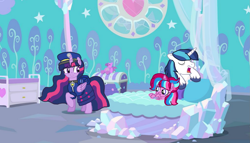 Size: 1891x1080 | Tagged: safe, artist:徐詩珮, shining armor, twilight sparkle, oc, oc:bubble sparkle, alicorn, pony, bubbleverse, series:sprglitemplight diary, series:sprglitemplight life jacket days, series:springshadowdrops diary, series:springshadowdrops life jacket days, alternate universe, baby, baby pony, base used, brother and sister, chase (paw patrol), clothes, female, magical lesbian spawn, magical threesome spawn, male, mother and child, mother and daughter, multiple parents, next generation, offspring, parent:glitter drops, parent:spring rain, parent:tempest shadow, parent:twilight sparkle, parents:glittershadow, parents:sprglitemplight, parents:springdrops, parents:springshadow, parents:springshadowdrops, paw patrol, siblings, sleeping, snoring, twilight sparkle (alicorn), uncle and niece