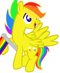 Size: 437x529   Tagged: safe, artist:circuspaparazzi5678, oc, oc:electro thunderflash, pegasus, pony, base used, gay, gay pride flag, male, multicolored hair, pride, pride flag, pride month, rainbow hair, requested art, solo