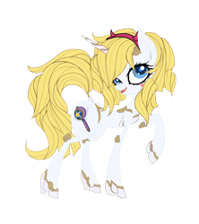 Size: 2400x2700 | Tagged: safe, artist:great-5, oc, oc:stargazer, unicorn, lightmare, palette swap, recolor, star butterfly, star vs the forces of evil