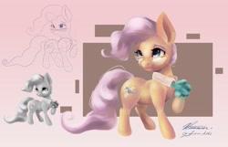 Size: 4096x2633 | Tagged: safe, artist:artsgalinn, artist:auroriia, artist:galinn-arts, mayor mare, earth pony, clothes, collaboration, cute, female, glasses