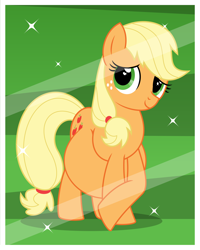 Size: 2880x3600 | Tagged: safe, artist:buttonbuster, applejack, earth pony, pony, belly, big belly, bust, female, freckles, mare, missing accessory, photo shoot, portrait, pregnant, smiling, solo