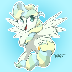 Size: 1600x1600 | Tagged: safe, artist:livehotsun, vapor trail, pegasus, pony, cute, female, mare, smiling, solo