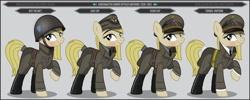 Size: 1280x512   Tagged: safe, artist:brony-works, earth pony, pony, clothes, female, helmet, mare, solo, sweden, uniform, world war ii